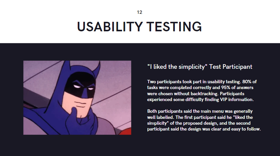 Sam C - Usability Testing