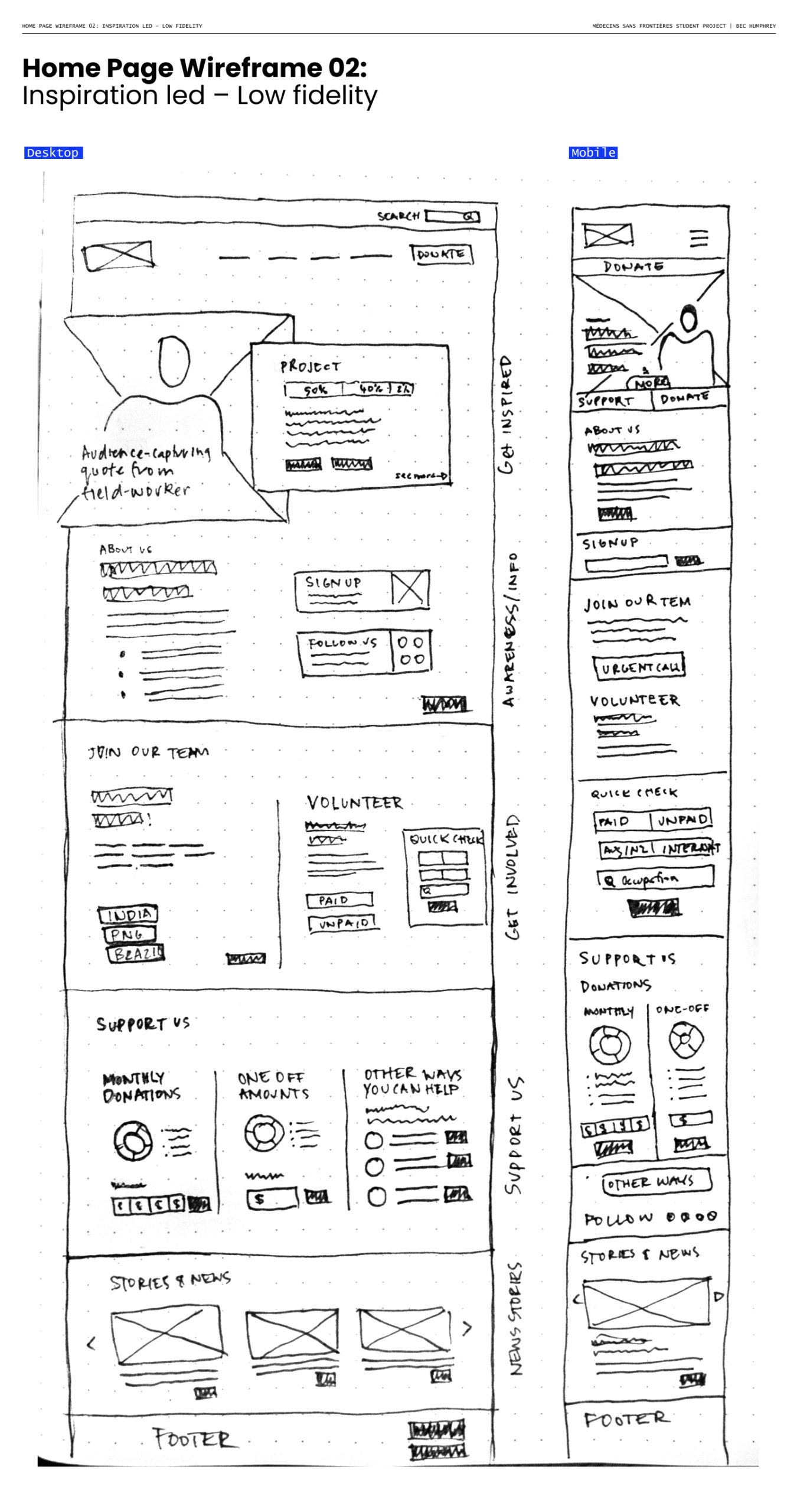 Bec_03 Home Page Wireframe 02_ Inspiration led – Low fidelity
